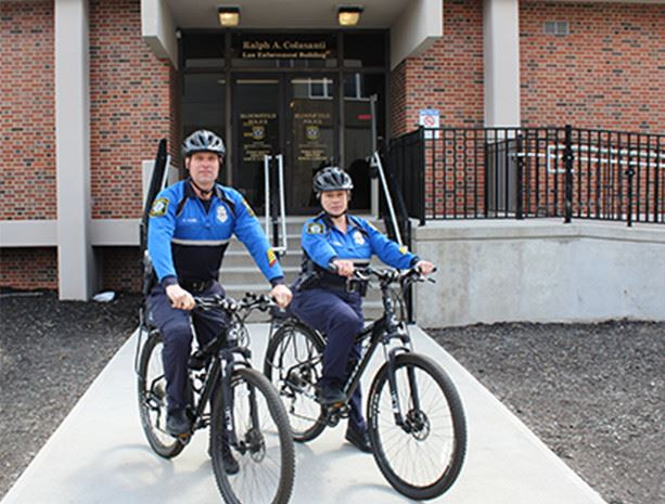 Bloomfield Township Police Officers on bicycles